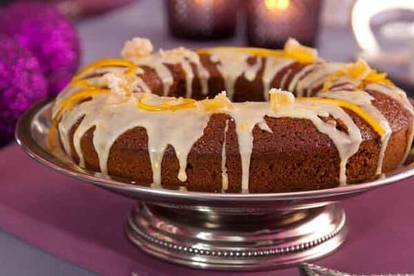 Christmas gin treat: boozy ginger and orange drizzle cake