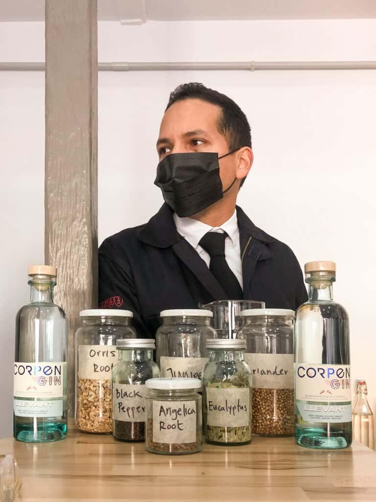 Corpen Gin botanicals