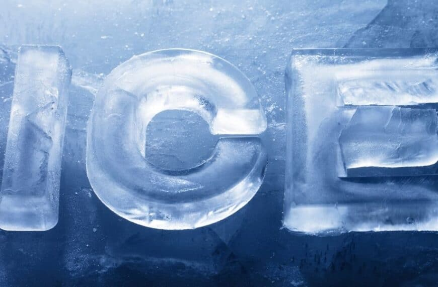 Ice, ice baby! It's crystal clear…