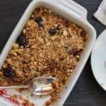 sloe gin apple and blackberry crumble